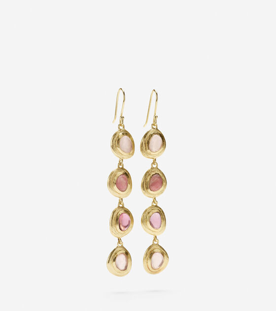 Linear Semi-Precious Drop Earring