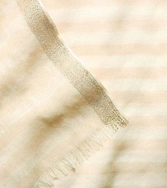 Lurex Border Stripe Scarf