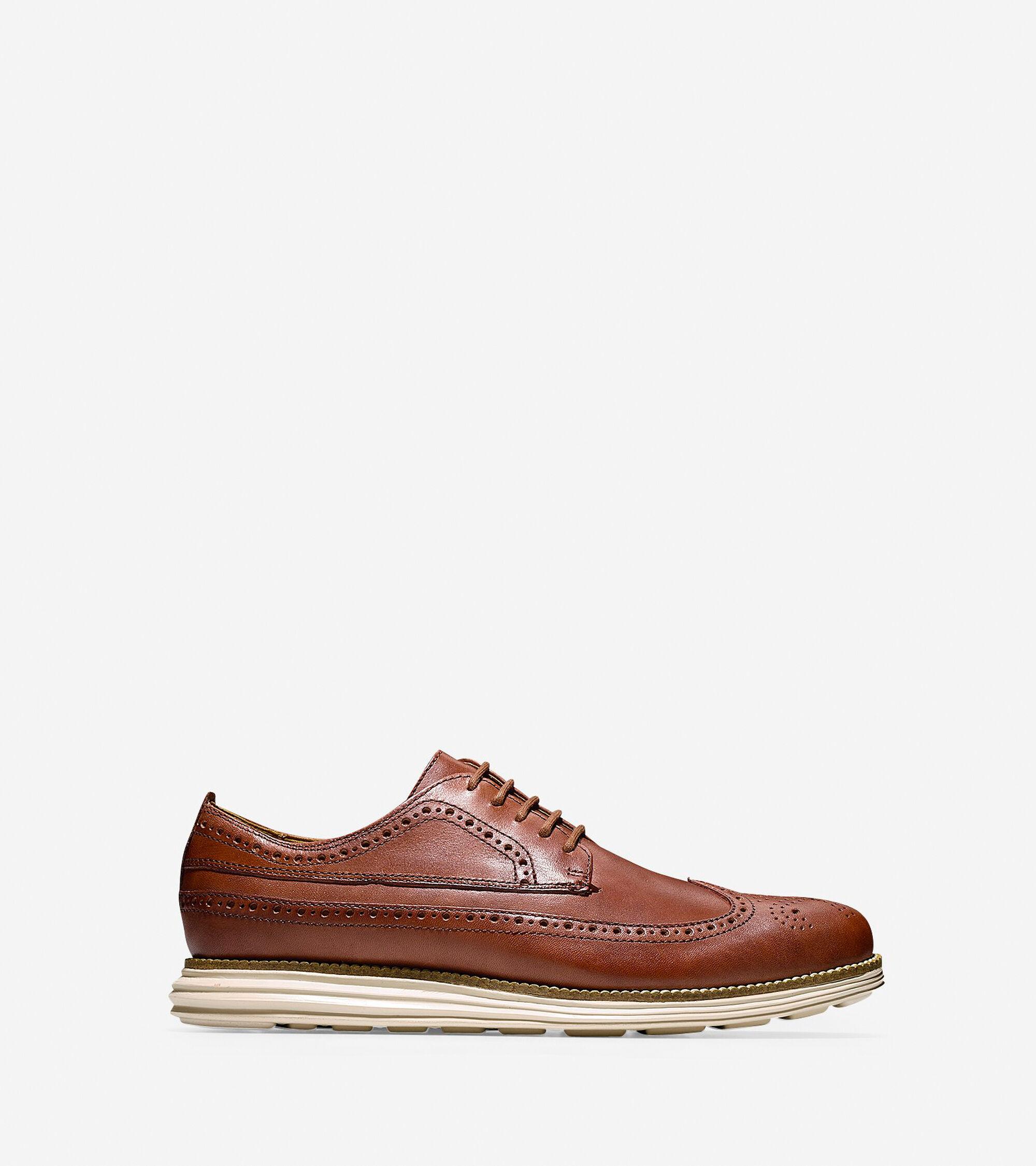 Mens Cole Haan OriginalGrand Long Wingtip Oxford Shoes