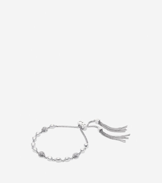 Accessories > Waters Edge Swarovski Teardrop Pull Tie Bracelet