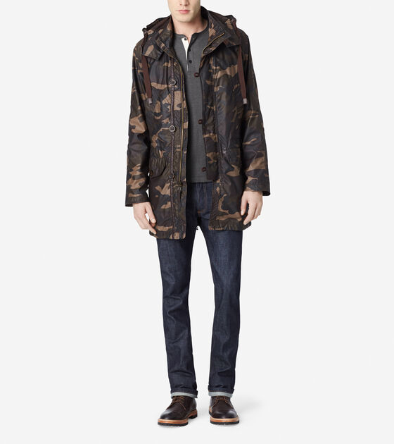 Outerwear > Washed Camo Military Parka