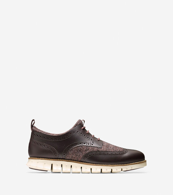 Shoes > Men's ZERØGRAND Neoprene Lined Wingtip Oxford