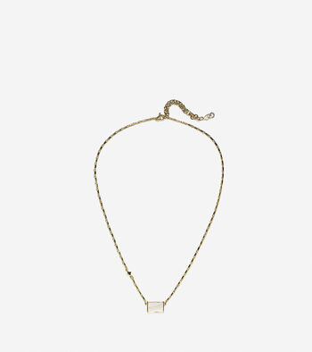 Tali Rectangle Mother Of Pearl Necklace