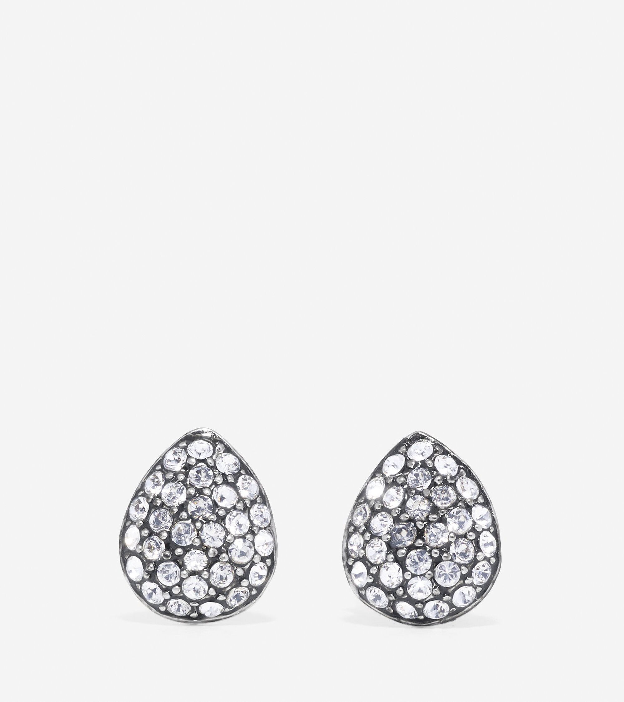 Jewelry > Waters Edge Small Swarovski Pave Teardrop Stud Earrings