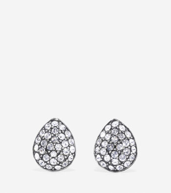 Waters Edge Small Swarovski Pave Teardrop Stud Earrings