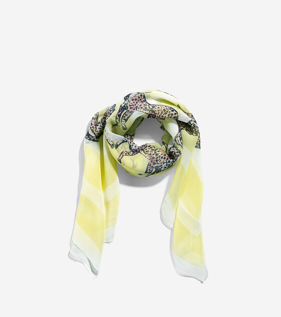 Accessories > Rawaan Alkhatib - Cheetah Silk Scarf