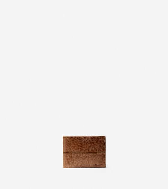 Accessories > Pebbled Leather Slim Billfold Wallet