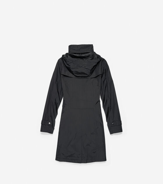 Packable Nylon Single Breasted Coat