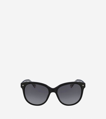 Acetate Weave Rounded Square Sunglasses