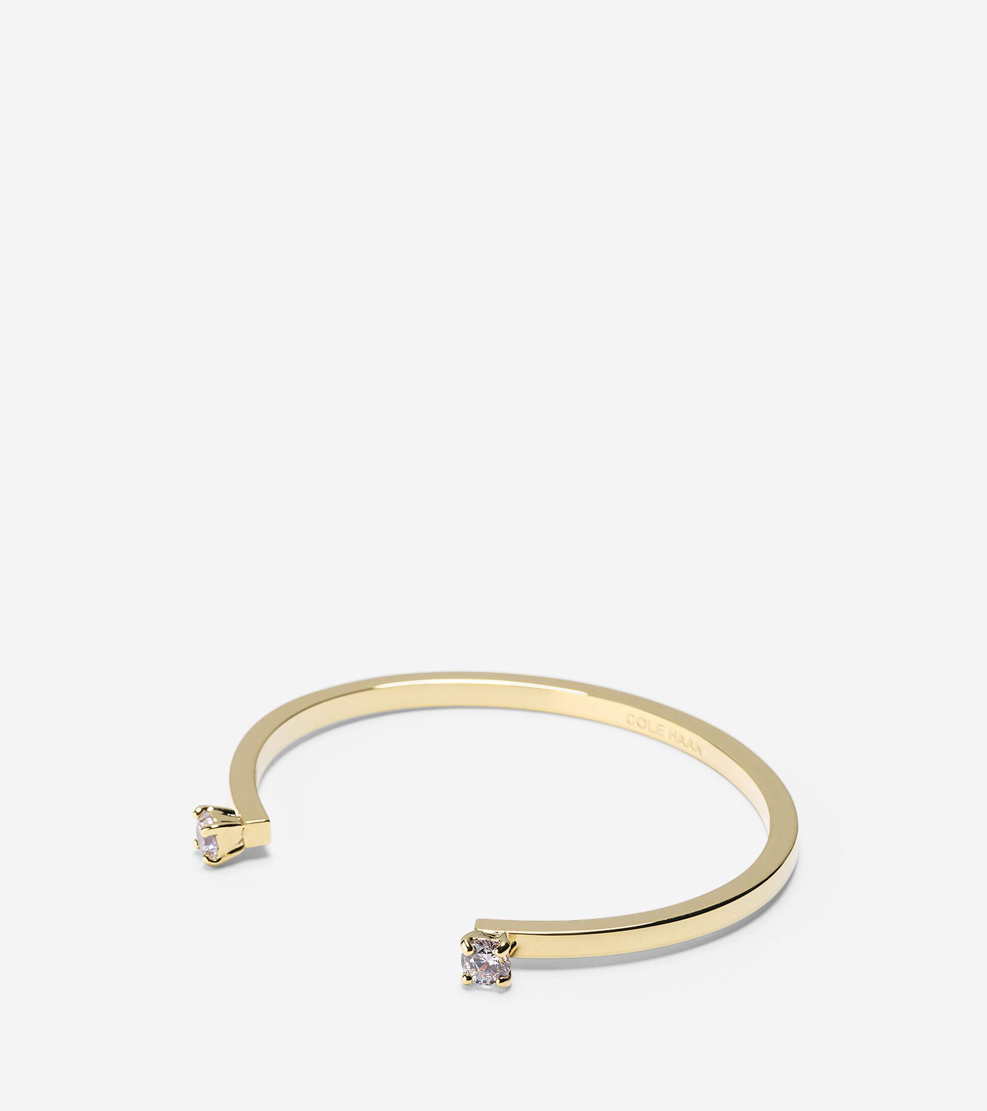 Accessories > CZ Open Cuff Bracelet