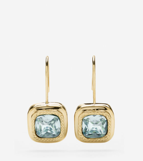 Accessories > Square Swarovski Drop Earring