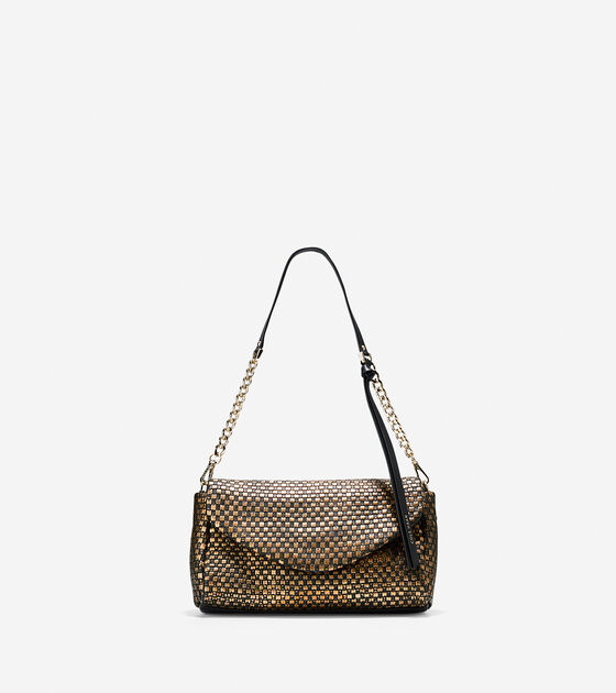 Bags & Outerwear > Bethany Weave Clutch Shoulder Bag