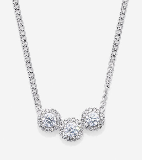 Bags & Outerwear > 3 Stone CZ Necklace