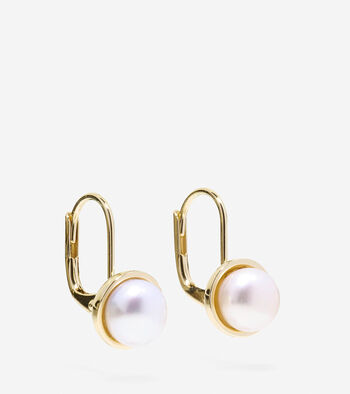 Tali Pearl Round Fresh Water Pearl Drop Earrings