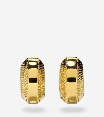 Marine Links Basket Weave Huggie Earrings