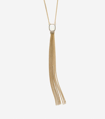 All A Fray Sand Opal Y Tassel Necklace