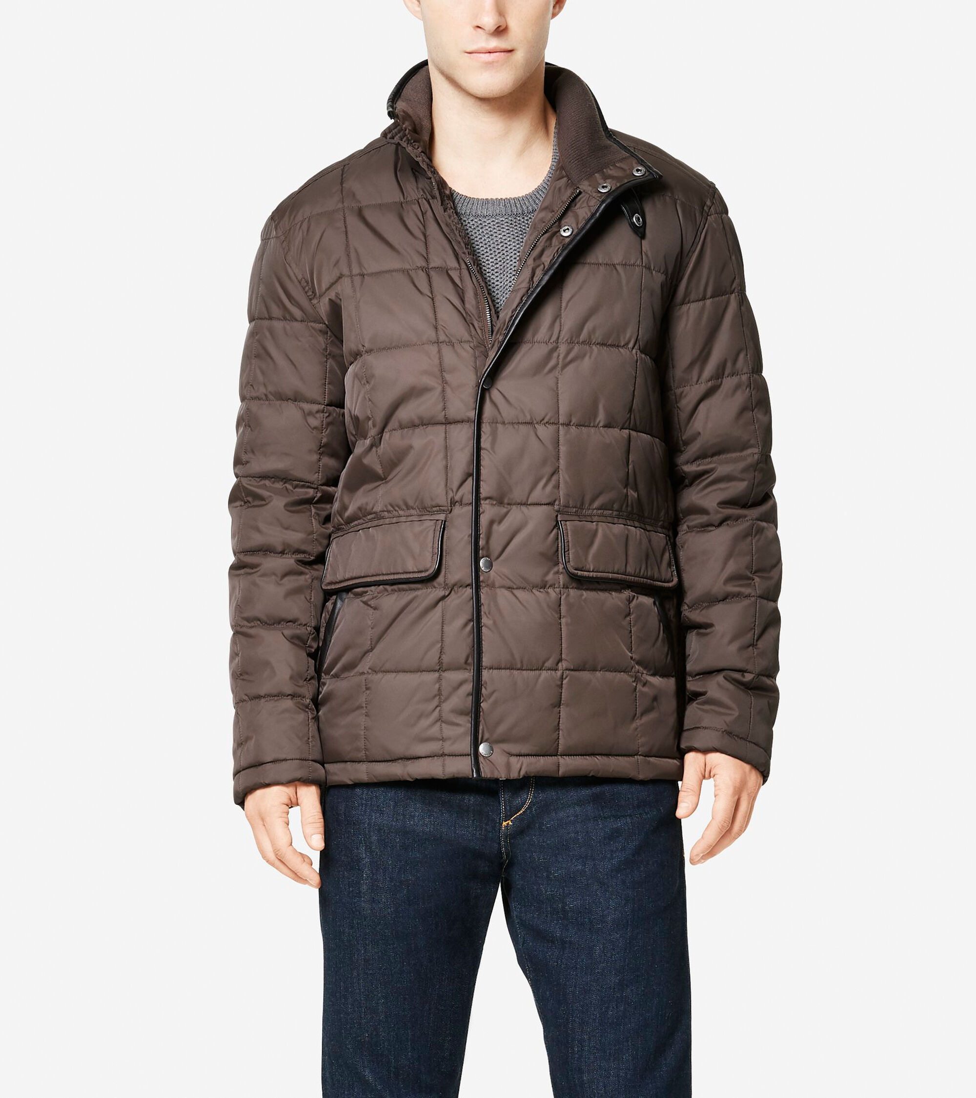 lyst jacket product polo ralph quilt black quilted lauren richmond for in mens men gallery clothing