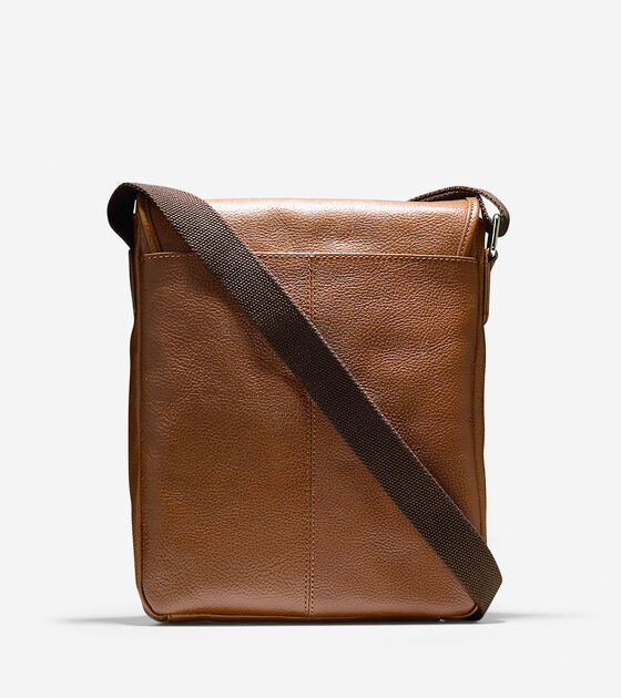 Pebbled Leather Reporter Bag