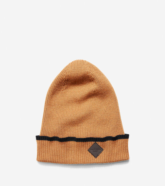 Hats, Gloves & Scarves > Cashmere Blend Tipped Rib Cuff Hat
