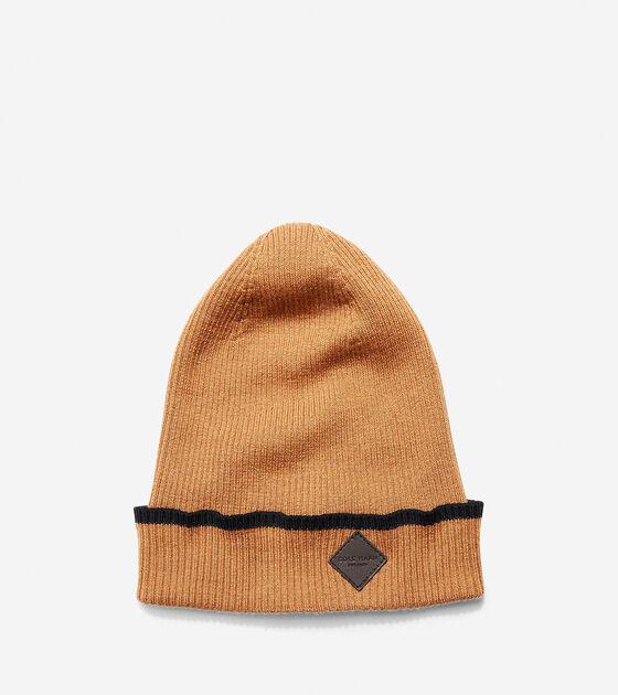 Accessories > Cashmere Blend Tipped Rib Cuff Hat