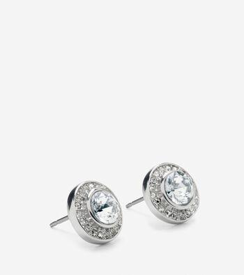 Halo Swarovski Stud Earring
