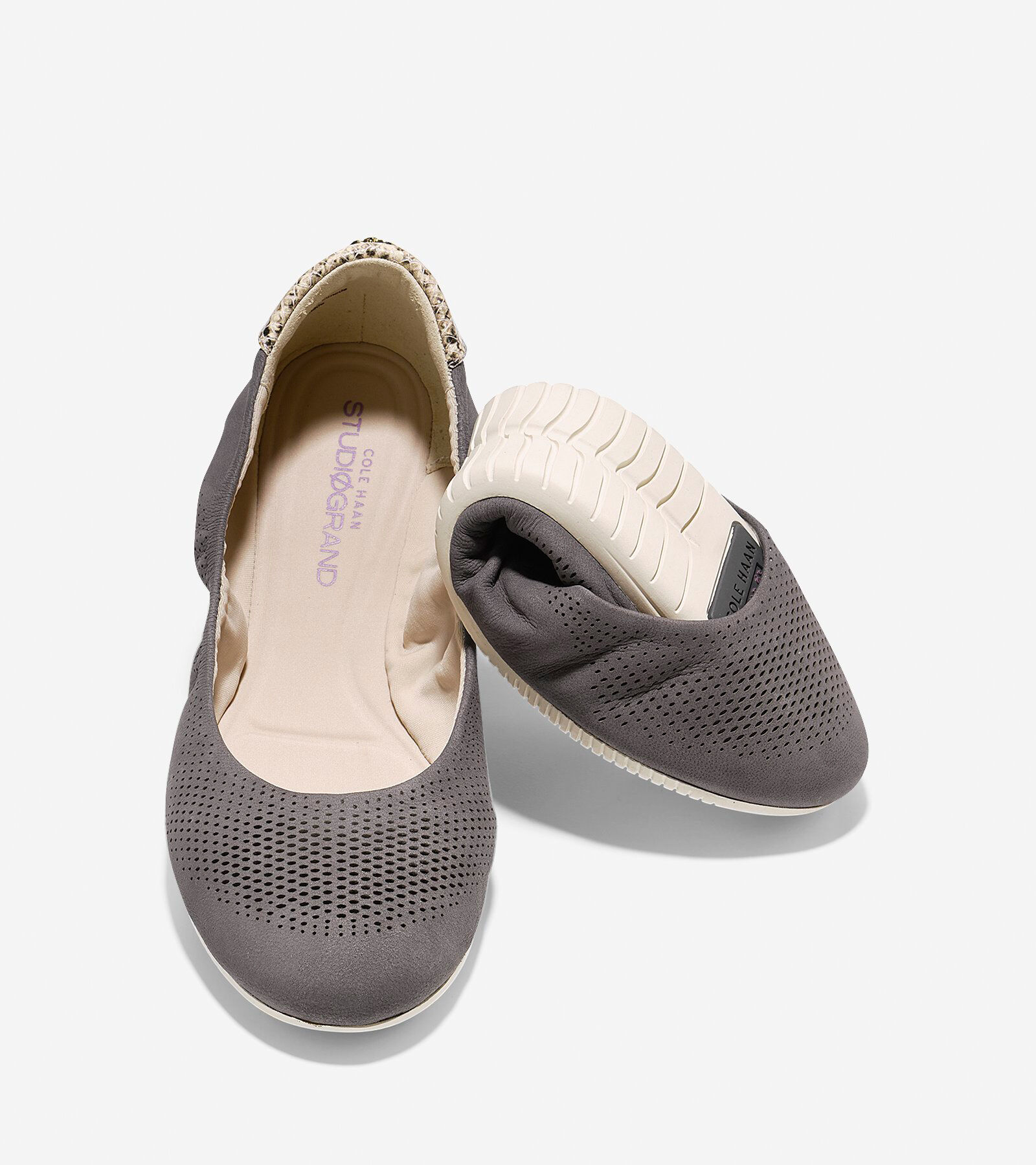 Cole Haan 2.0 StudiGrand Packable Ballet Leather Flat SGItIg