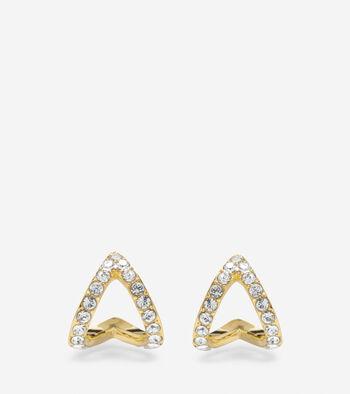Love Triangle Swarovski Post Earrings