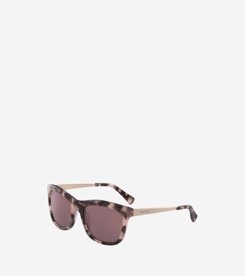 Acetate Metal Square Sunglasses