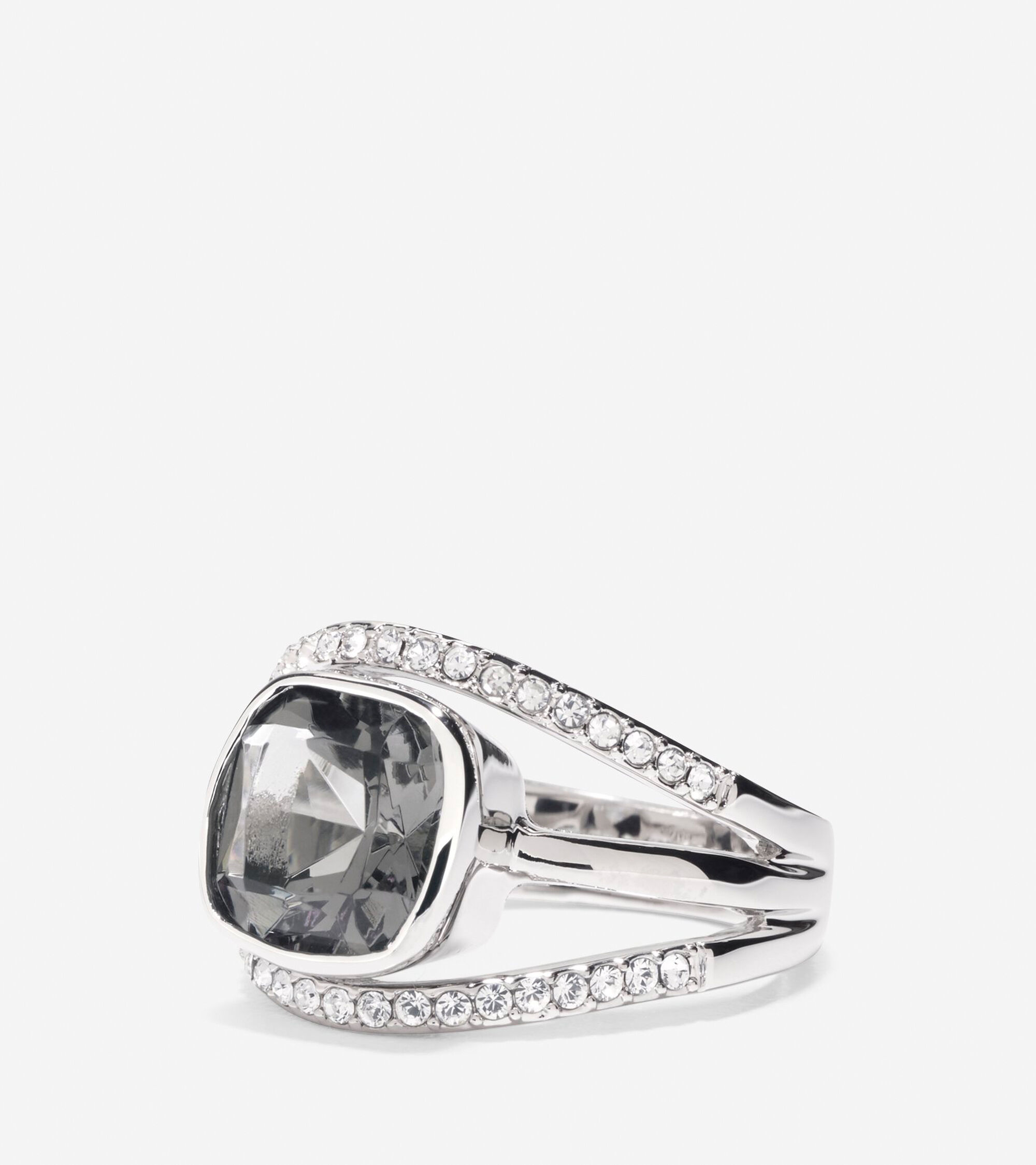 Jewelry > Cocktail Hour Center Square Stone Pave Bar Ring