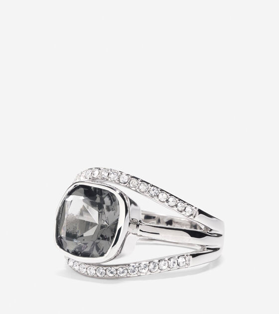 Accessories > Cocktail Hour Center Square Stone Pave Bar Ring