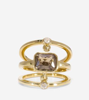 Tali L'Heure Bleue 3 Piece Swarovski Stone Ring