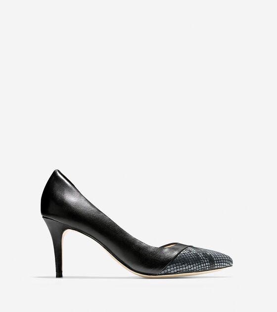 Shoes > Highline Cap Toe Pump (75mm) - Pointy Toe