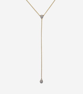Waters Edge Swarovski Pave Teardrop Y Necklace