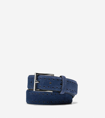 32mm Suede Leather Belt