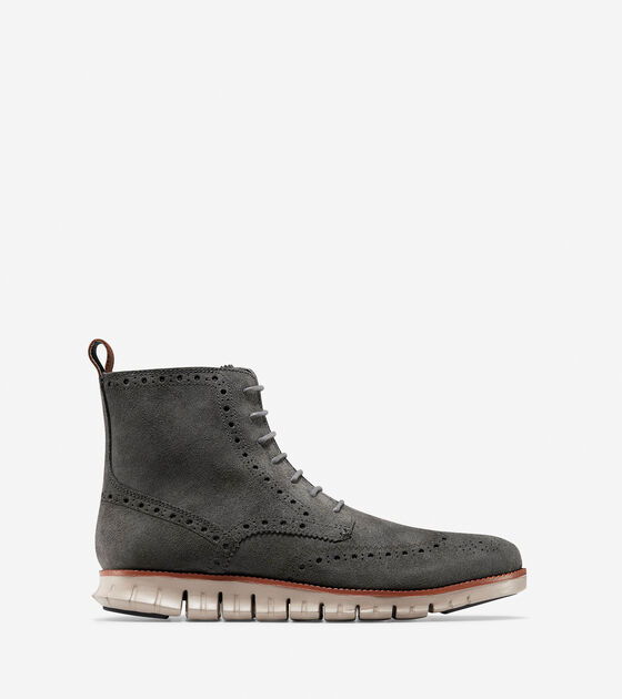 Shoes > Men's ZERØGRAND Water Resistant Wingtip Boot