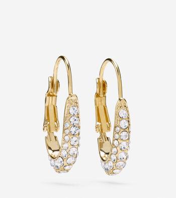 Pave Oval Hoop Earrings