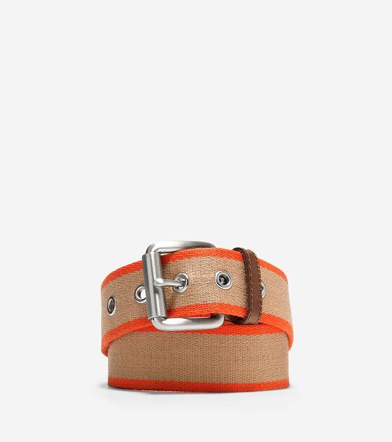 Accessories > 38mm Webbing Leather Belt