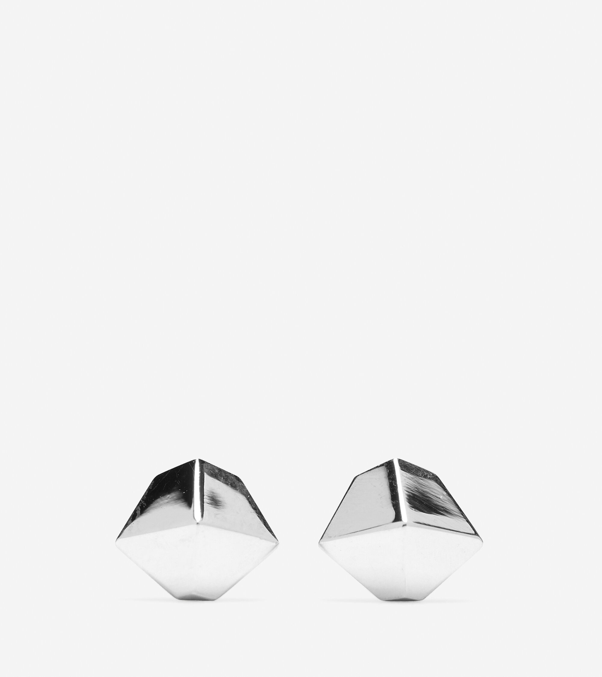 Accessories > Faceted Metal Stud Earring