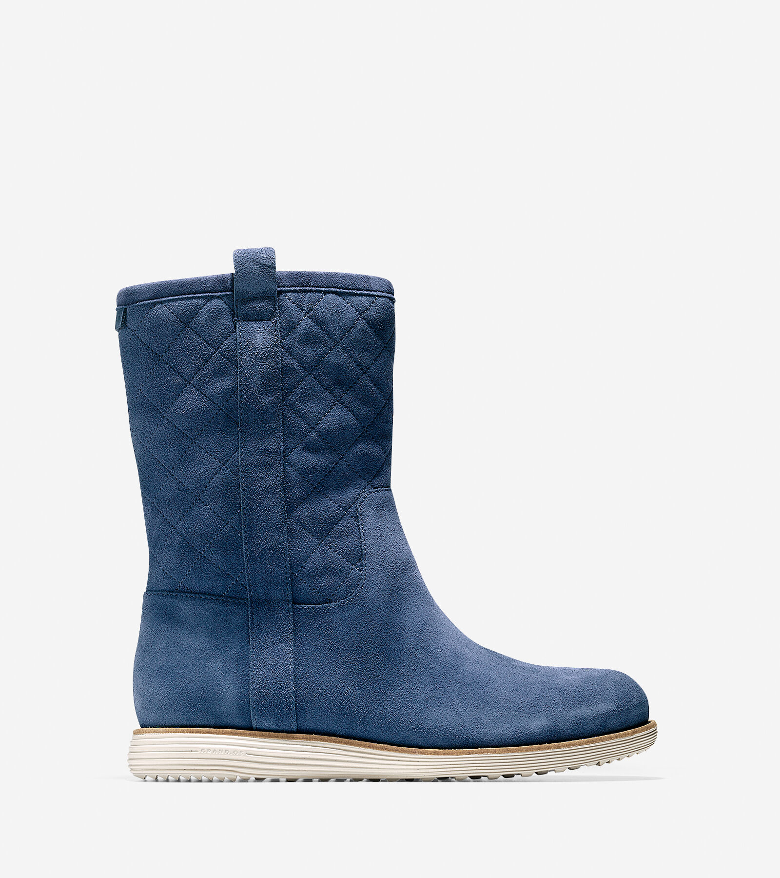 Womens Boots Cole Haan Roper Grand Boot Blazer Blue Suede