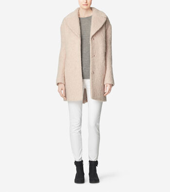 Cocoon Wool Blend Coat