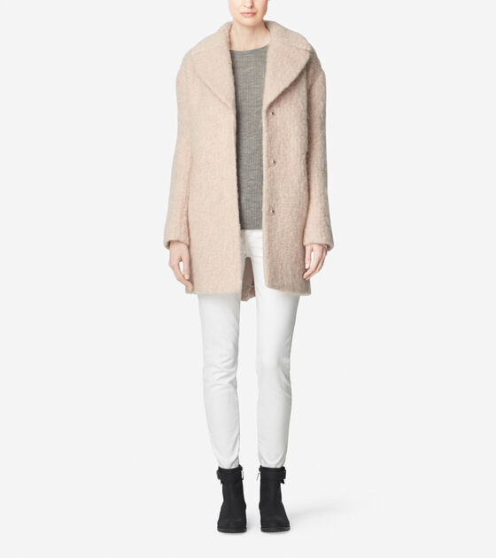 Outerwear > Cocoon Wool Blend Coat
