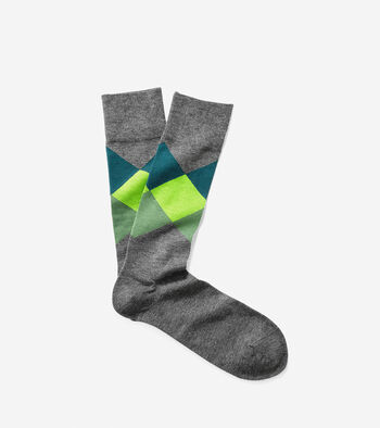 Large Diamond Crew Sock