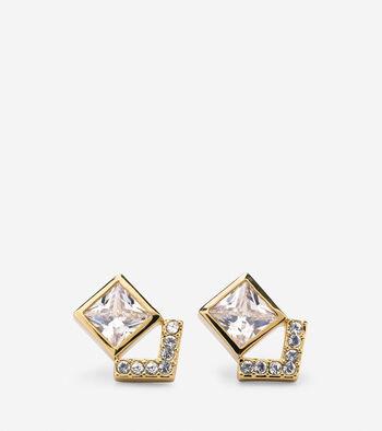 Love Triangle CZ Stud Earrings