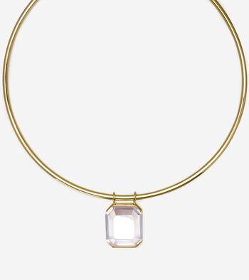 Cubic Zirconia Collar Pendant Necklace