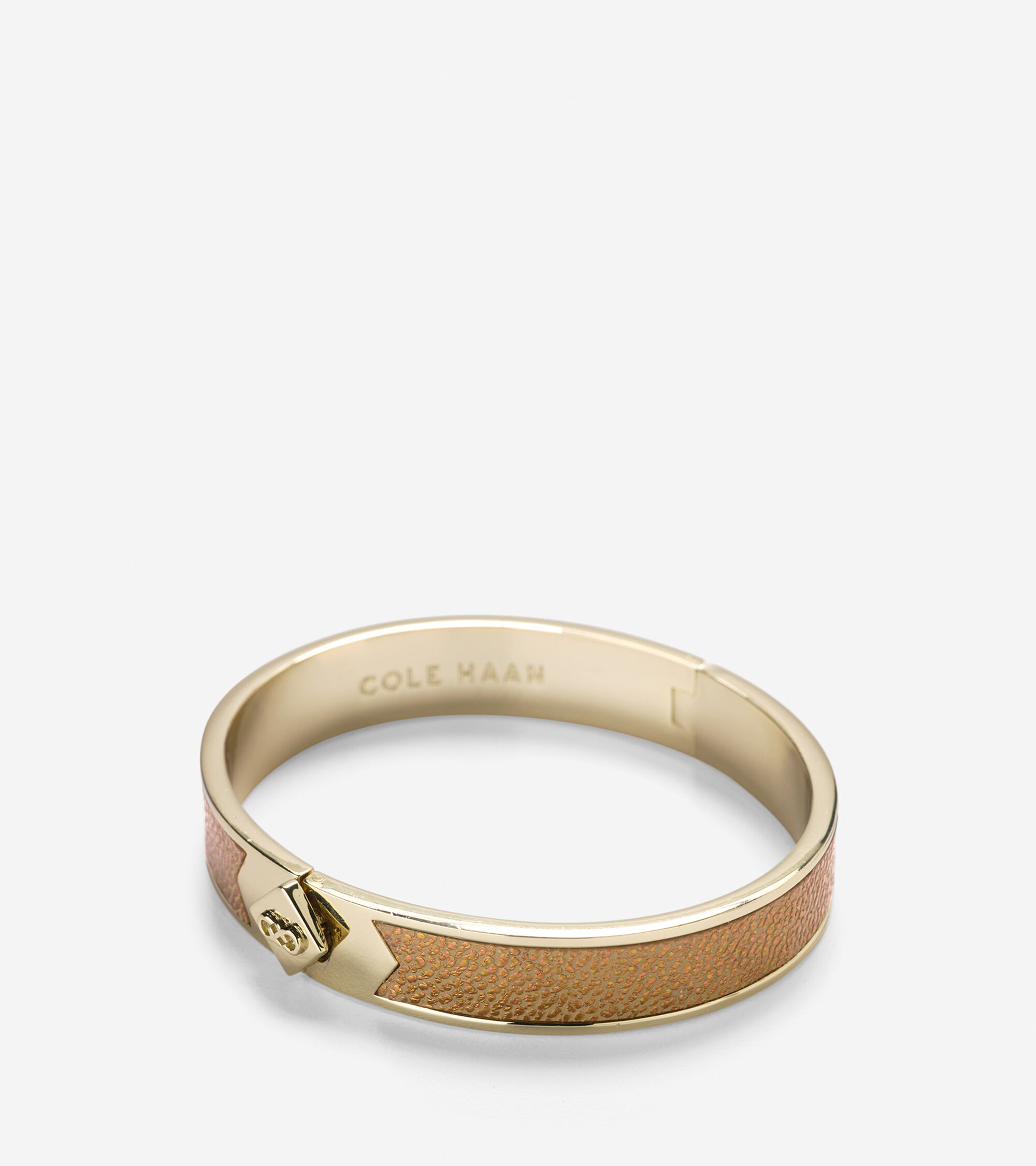 Accessories > Thin Hinged Leather Inlay Bangle