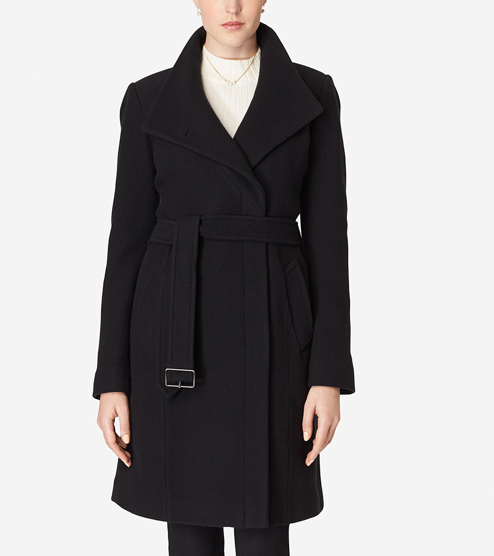 Outerwear > Belted Italian Wool Coat