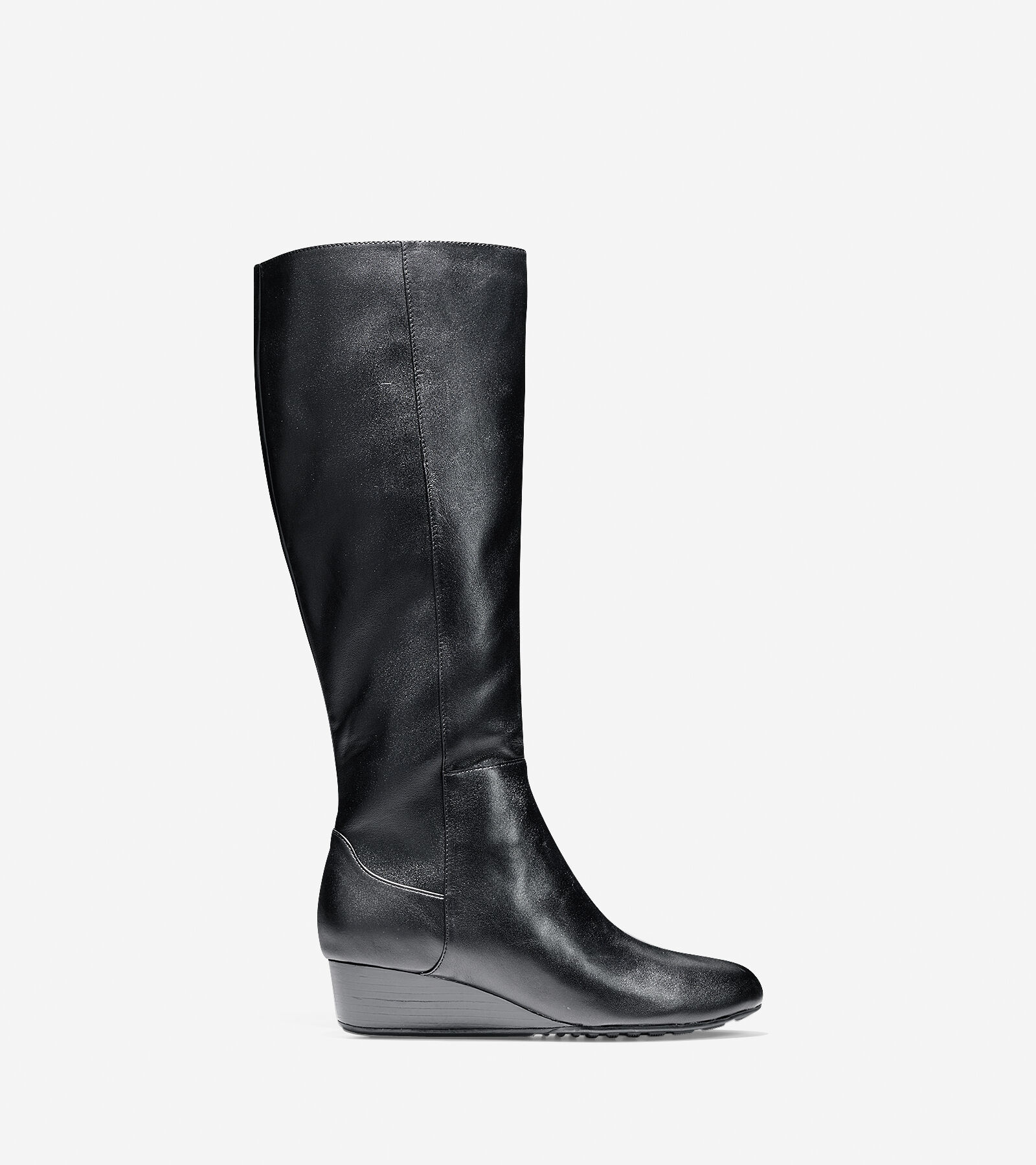 buy cheap finishline Cole Haan Suede Wedge Knee-High Boots genuine cheap price cheap sale view sale huge surprise deals cheap price G7e0ImE