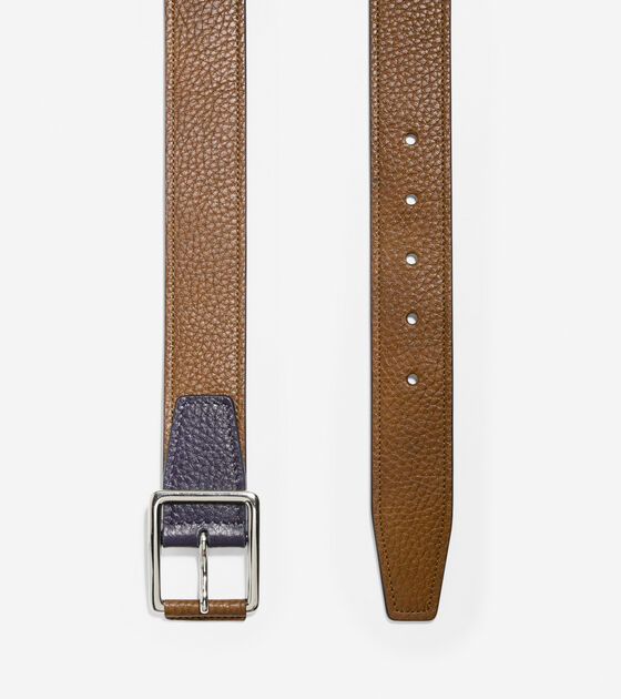 35mm Contrast Leather Belt