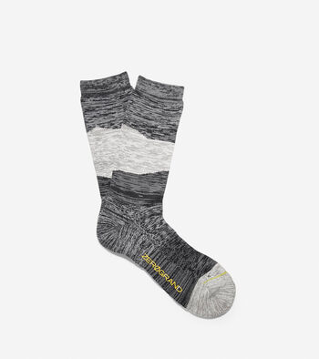 ZERØGRAND Melange Color-Block Crew Socks