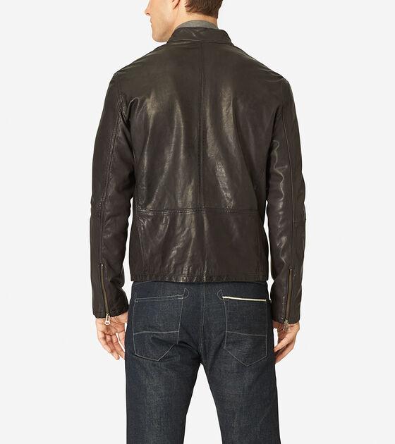 Vintage Leather Moto Jacket